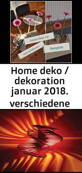 Home deko / dekoration januar 2018. verschiedene beispiele. deko mit holz und tu… 7