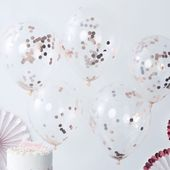 Ginger Ray Rose Gold Confetti Balloons are a great way to decorate and liven up …