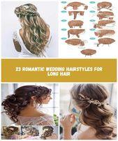 Einfache geflochtene Half Up Hochzeitsfrisur mit Blumen #diywedding einfache Hochzeit