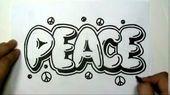 Cool Graffiti Drawings On Paper love | How to draw PEACE in Graffiti Letters – W…   – Graffiti
