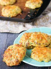 Healthy Savory Breakfast Cookies – low carb, gluten free