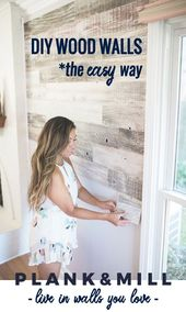 Decor Hacks : We believe in living in walls you love. Reclaimed wood planks with easy peel and…