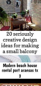 20 äußerst kreative Gestaltungsideen für einen kleinen – kleinen Balkon – Balkon