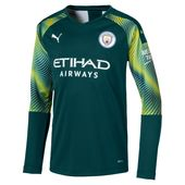 Man City Long Sleeve Kids' Replica Goalkeeper Jersey | Ponderosa Pine-Cyber Yellow | PUMA Manchester City Collection | PUMA United Kingdom