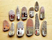 Handbemalte dekorative Kieselsteine in 52 tollen Ideen   – Kunst