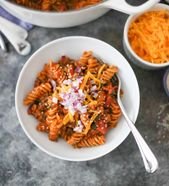 Eintopf Cheeseburger Fusilli   – Healthy Eats