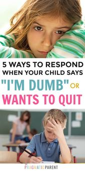 5 Important Keys to Responding to Your Child's Negative Self Talk
