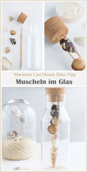 Maritime Deko unter der Glashaube + Mini IKEA Hack
