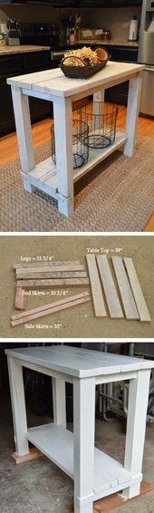 15 einfache DIY-Kücheninseln, die Sie mit kleinem Budget bauen können – wie man ein #DIY baut   – DIY und Selber Machen Deko