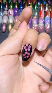 Plum Blossom Manicure Video 20 + Cute and Easy Nail Art Designs for Beginners