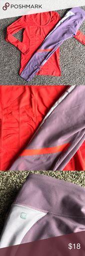 Fabletics Größe kleines Outfit orange und lila Gewaschen und getragen. Rauchfreies Zuhause ….   – My Posh Picks