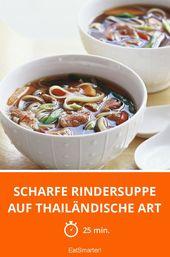 Scharfe Rindersuppe auf thailändische Art