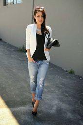 Les combinaisons les plus élégantes pour s'habiller dans une veste blanche   – Τάσεις της μόδας