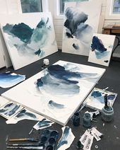It was a magical messy day in the studio! Letting …