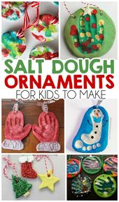 #christmas #ornaments #dough #salt #kids #make