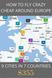 Buchen Sie mit diesem Trick günstige Flüge in ganz Europa (in diesem Beispiel 9 beliebte Städ…