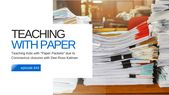 """Teaching Kids with """"Paper Packets"""" due to Coronavirus closures with Dee Ross Kalman @coolcatteacher"""