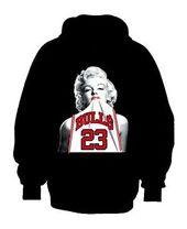 Marilyn Monroe Micheal Jordan Hoodie Plush Marilyn Monroe Sweatshirt Marilyn Monroe Outfits Nba T Shirts