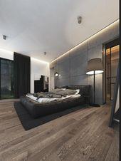 Beleuchtung von neutralen Farben in Häusern mit Persönlichkeit   – Schlafzimmer
