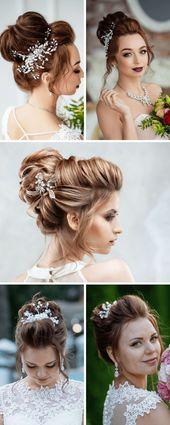 Brautfrisur hochgesteckt – 30 wunderschöne Idee…