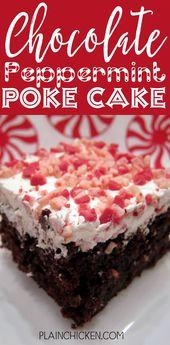 Pastel de chocolate y menta – ¡INCREÍBLE! Solo 6 ingredientes – pastel de chocolate …   – food