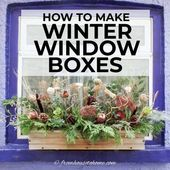 How To Make Winter Window Containers (The Straightforward Manner) – Gardening @ From Home To House