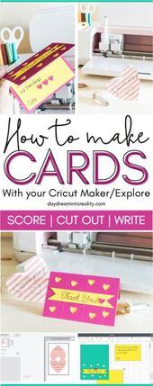 Machen Sie eine Karte mit Ihrem Cricut Maker oder Explore