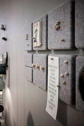 ▷ Pinnwand selber machen – kreative Anleitungen – Büro Deko Ideen & Schreibtischdeko