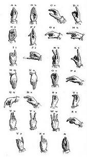 The Vintage Moth Vintage Illustration Sign Language Sign Language Alphabet