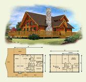 lakefront log home and log cabin floor plan ♣ 13…