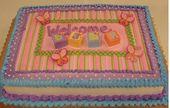 Willkommensbaby-Blattkuchenentwurf war von der Party Einladung. In Buttercreme.   – Cake Baby