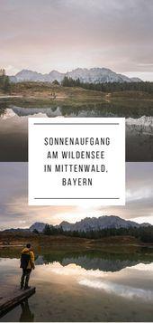 Wildensee fotografieren in Mittenwald