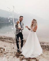 Hochzeit Bild Pose Foto Fotografie Fotograf Pop sprudelnden Champagner Braut …