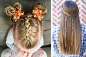 Short Layered Hair | Easy Little Girl Hairstyles Step By Step | Hair Style For G…