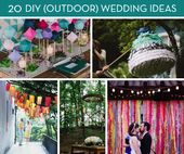 Roundup: 20 Amazing DIY Outdoor Wedding Ideas
