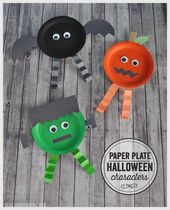 15 festive easy Halloween crafts for kids – including these cute paper plate cha…