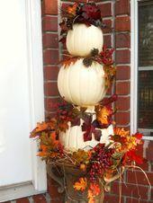 Kurbisse Herbstdeko Herbstlaub Coole Deko Coole Herbst