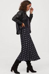 Jupe Circle – Noir / Blanc à pois – Femme | H & M DE   – Nähen // Sewing