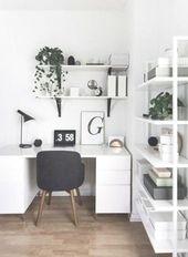 Eckraum moderne Schreibtischideen – SHW Home Decor #whitemoderndeskideas