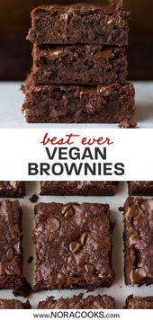 Dies ist wirklich das beste Rezept für vegane und milchfreie Brownies! Fudgy, klebrig, …