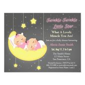 Baby Showers Twinkle Twinkle Little Star Girl Twins Baby Shower Custom