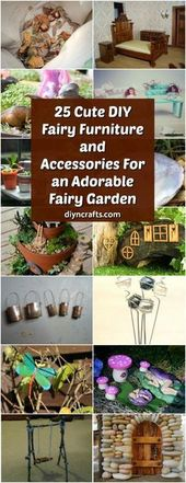 25 Cute DIY Fairy Furniture and Accessories For an…