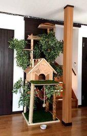 Einfach und kreativ zu bauen Kratzbäume für Katzen   – Cat
