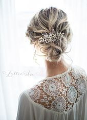 """Boho Wedding Hair Comb in Antique Gold, Gold, Antique Gold, Rose Gold, Silver, Antique Silver, """"Zara"""""""