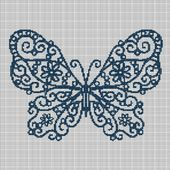 ART BUTTERFLY 2 CROCHET AFGHAN PATTERN GRAPH