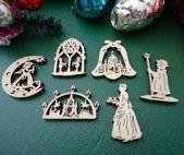 Sechs Holzornamente, Dresden #Weihnachten, Frauen Kirche, Schokoladenmädchen, Engel, Nachtwächter, …
