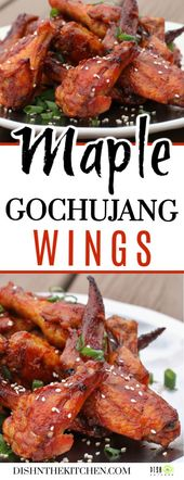 Maple Gochujang Wings