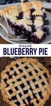 Dieses klassische Blueberry Pie-Rezept kann mit einem Gitter, einer Doppelkruste oder …