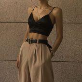 silky bralet top🏷 #MODUS – #beige #bralet #MODUS #silky #top