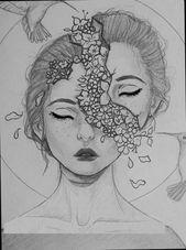 Zeichnen Gesichter Skizzen Kritzeleien 41 Ideen für 2019 – zeichnen – #doodles #Drawing